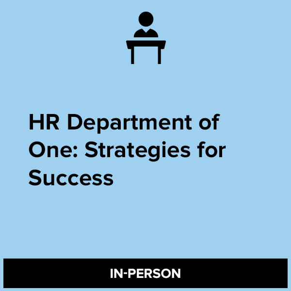 HR Department of One: Strategies for Success