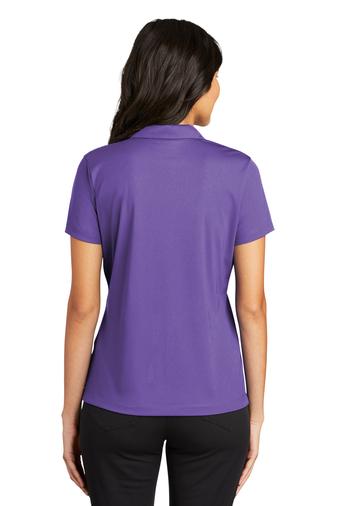 Back view - Purple Mesh Polo