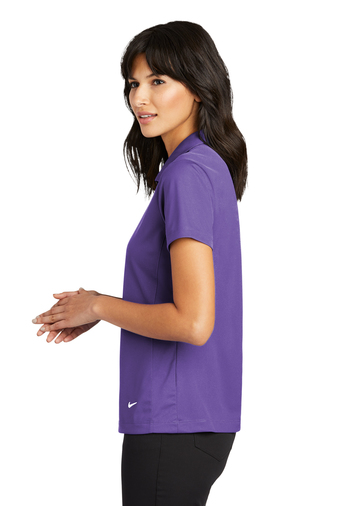 Side view - Purple Mesh Polo